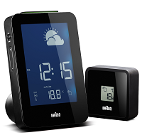 Braun Digital Weather Station Clock Black