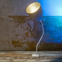Flower Cemento Floor Lamp | In-es Art Design