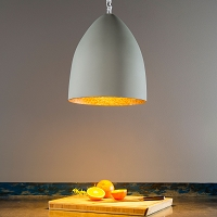Flower S Cemento Pendant Light | In-es Art Design