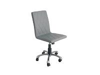 Julian Armless Office Chair Grey Faux Leather | Whiteline