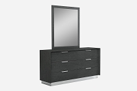 Navi Dresser Double High Gloss Black | Whiteline