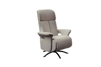 Nora Recliner Armchair Gray Leather | Whiteline