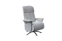 Nora Recliner Armchair White Leather | Whiteline