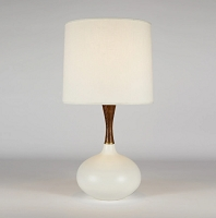 Up Pops Deluxe Table Lamp - Bisque Ceramic | Lights Up!