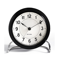 Arne Jacobsen Station Alarm Clock Black