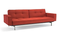 Splitback Sofa with Arms Stainless Steel | Innovation USA