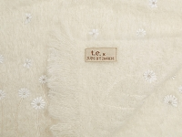 t.e. 217-02 Hand Embroidered Mohair Throw | Thomas Eyck