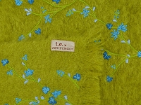 t.e. 217-07 Hand Embroidered Mohair Throw | Thomas Eyck