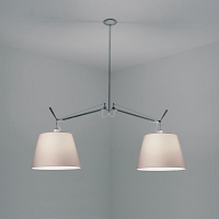 Tolomeo Double Shade Parchment Suspension | Artemide