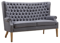Tov Abe Grey Linen Loveseat