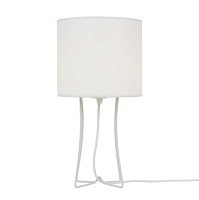Up  Virgil Tall Slim Table Lamp - White | Lights Up!