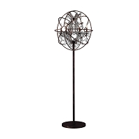 Armillary Foucault's Orb Crystal Floor Lamp W63190F24-CL | Worldwide Lighting