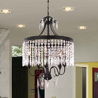Enfield Crystal Chandelier 5-Light | Worldwide Lighting
