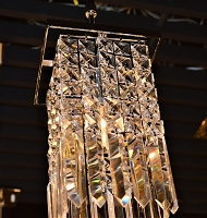 Torrent Crystal Pendant Light W83532C6-CL | Worldwide Lighting