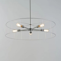 Up Ziggy 5-Arm Chandelier - No Shade | Lights Up!