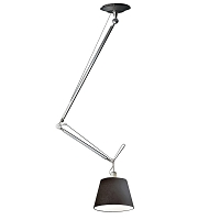 Tolomeo Off-Center Black Fabric Suspension | Artemide