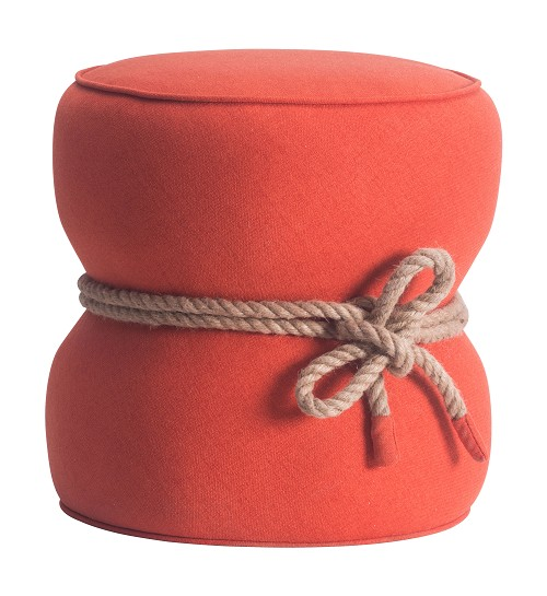 Tubby Ottoman in Orange | Zuo