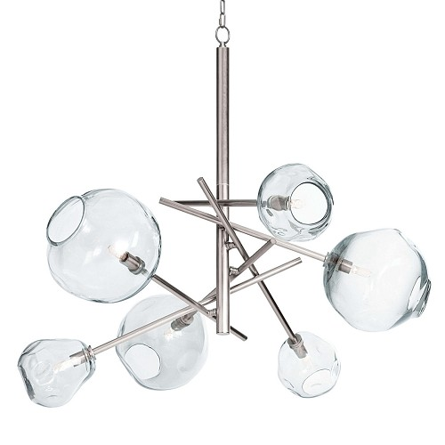 Molten Chandelier Clear Glass Polished Nickel | Regina Andrew