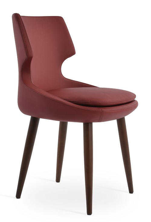 Patara Wood Dining Chair Leather | SohoConcept