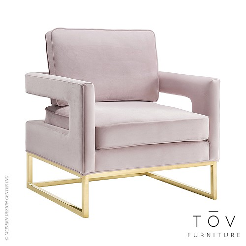 Avery Mauve Velvet Chair | Tov Furniture