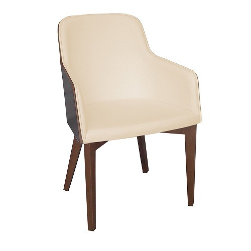 Hudson Armchair Wood Base | B&T