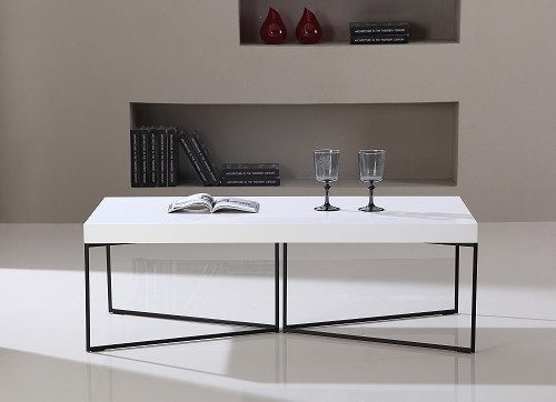Mixer Coffee Table in White and Black Steel | B-Modern