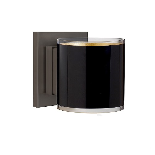 Pogo Mini Wall Sconce Black-Gold | Besa Lighting