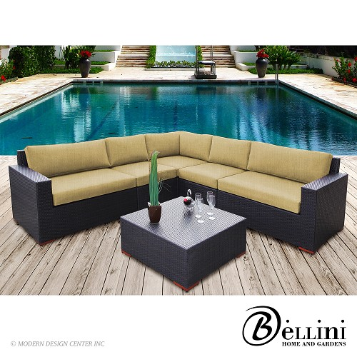 Bali 6-Piece Conversation Sectional Seating W771062 | Bellini
