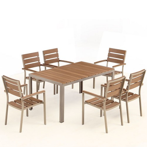 Bow 6-Seat Outdoor Dining Set | Ceets
