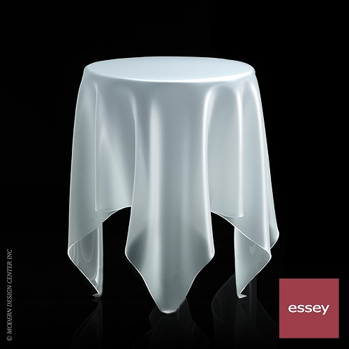 Illusion Side Table Ice White | Essey