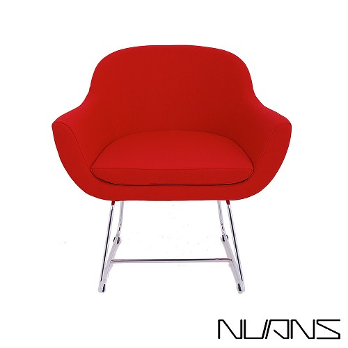 Chelsea Lounge Chair Wire Base Wool | Nuans