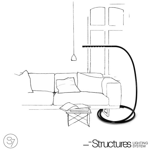S7 LED Floor Lamp Black | Structures
