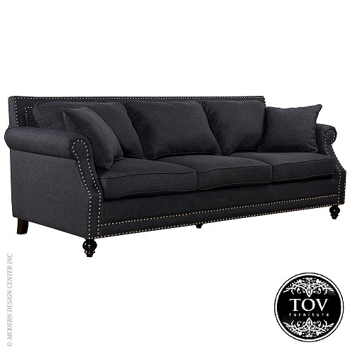 Camden Grey Linen Sofa | Tov Furniture