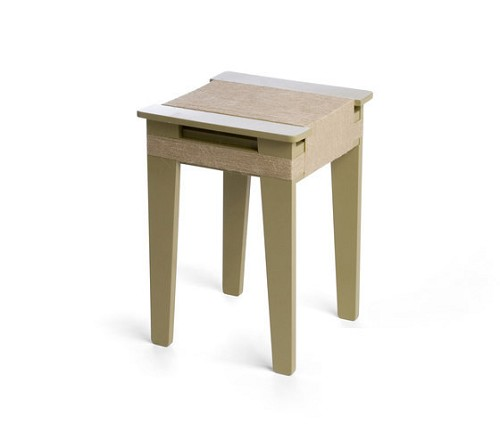 Wrapped Stool Yellow Green | Vij5