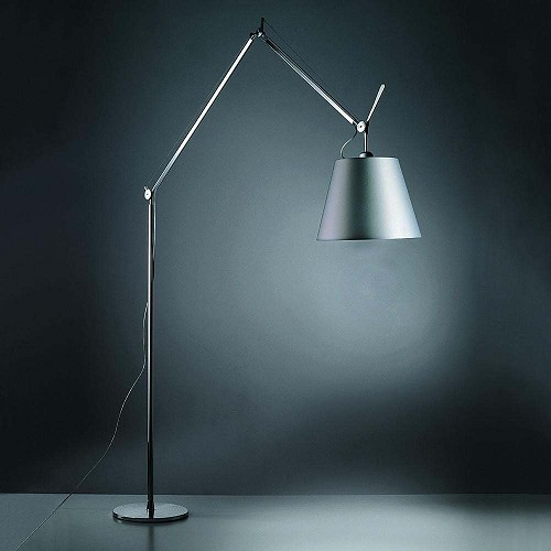 Tolomeo Mega LED Floor Lamp Fiber Shade | Artemide