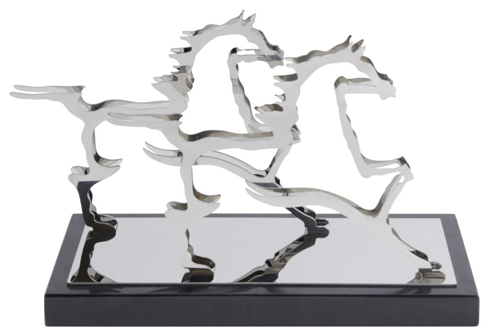 Chrome Gamboa Horse Decor | Finesse Decor